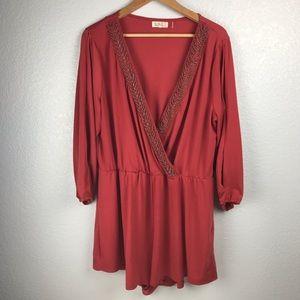 Rust color beaded jumper